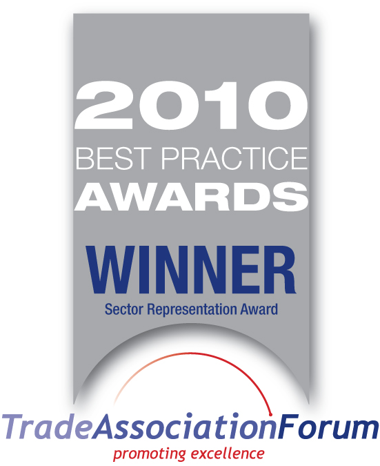 Awarded as best trade association in Britain at representing our members