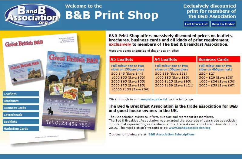 The Bed & Breakfast Print Shop